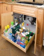 Affordable kitchen cabinet organization hack ideas (40)
