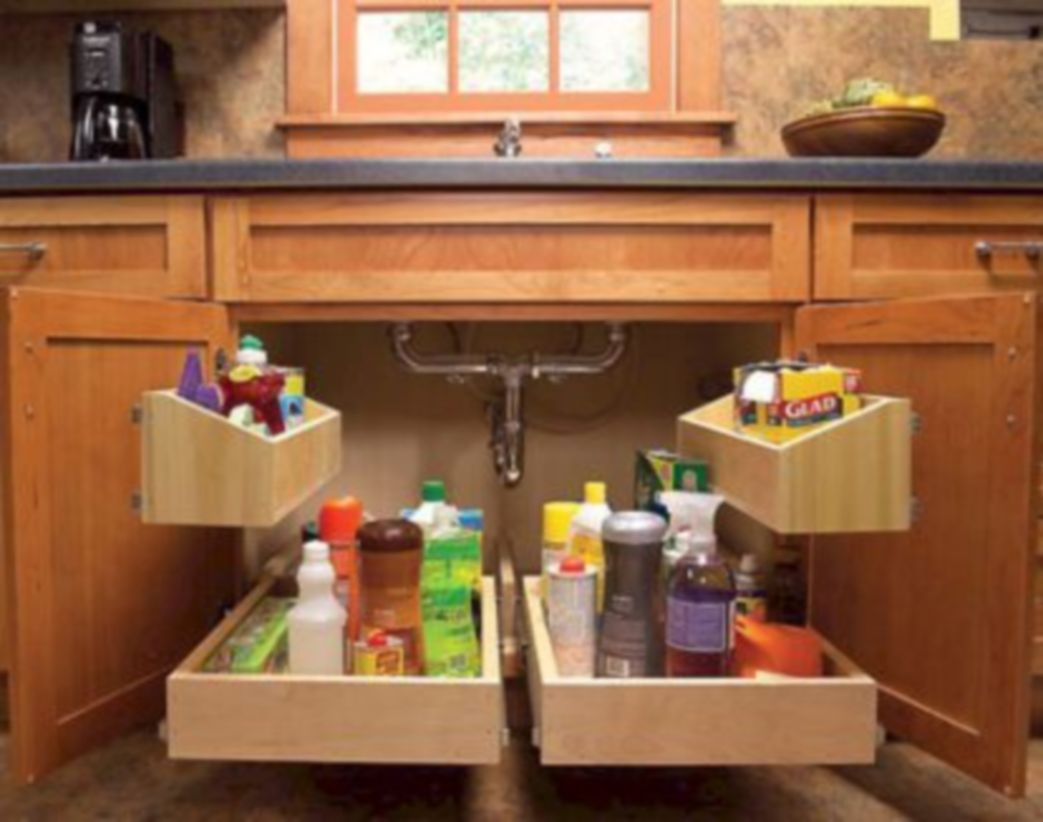 Affordable kitchen cabinet organization hack ideas (45)