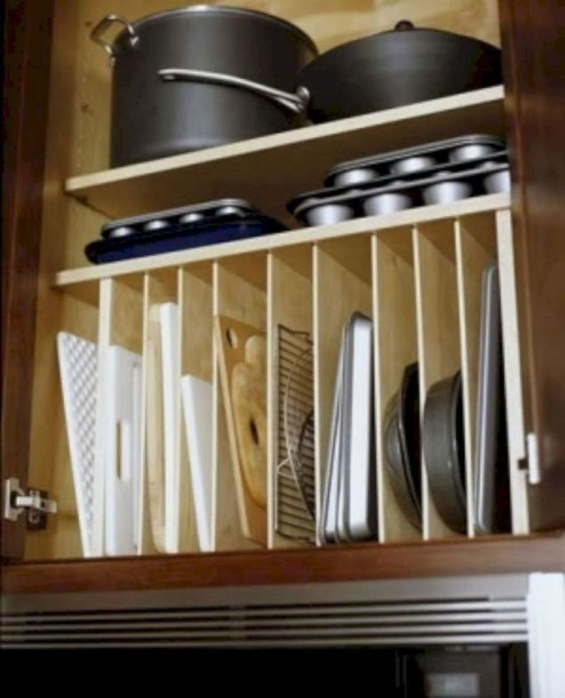 Affordable kitchen cabinet organization hack ideas (47)