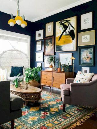 Amazing bohemian style living room decor ideas (28)