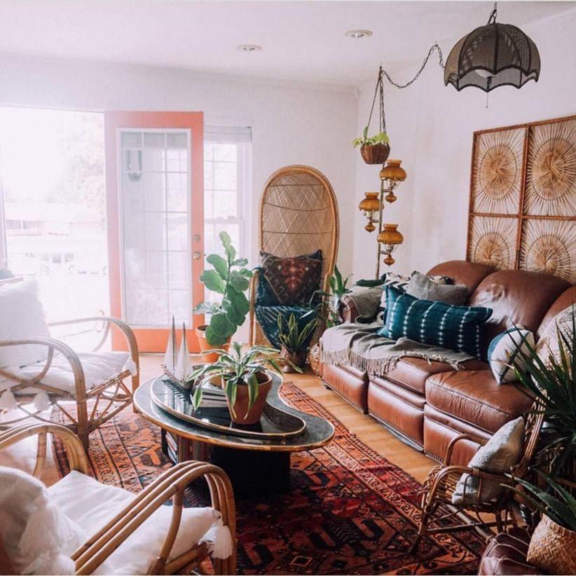 48 Amazing Bohemian Style Living Room Decor Ideas - ROUNDECOR on Bohemian Living Room Decor Ideas  id=11418
