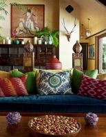 Amazing bohemian style living room decor ideas (4)