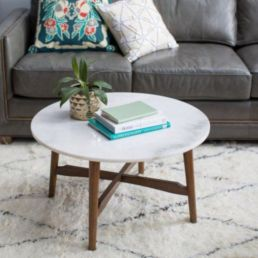 Beautiful marble coffee table design ideas for living room (2)