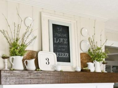 Beautiful spring mantel decorating ideas on a budget (11)