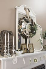 Beautiful spring mantel decorating ideas on a budget (14)