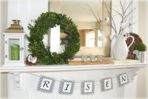 Beautiful spring mantel decorating ideas on a budget (23)