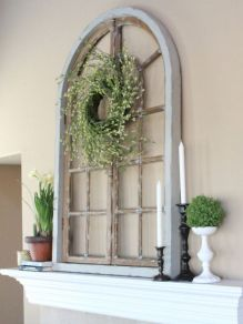 Beautiful spring mantel decorating ideas on a budget (25)