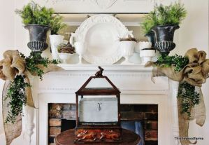 Beautiful spring mantel decorating ideas on a budget (33)
