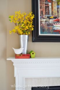 Beautiful spring mantel decorating ideas on a budget (34)