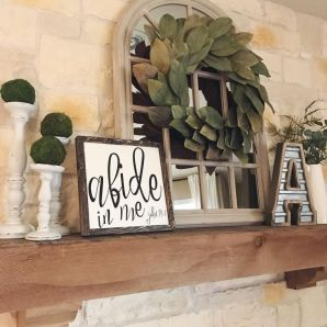 Beautiful spring mantel decorating ideas on a budget (38)