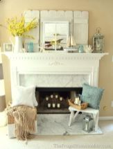 Beautiful spring mantel decorating ideas on a budget (41)