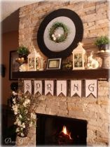 Beautiful spring mantel decorating ideas on a budget (8)