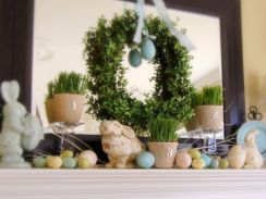 Beautiful spring mantel decorating ideas on a budget (9)