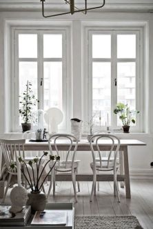 Comfy wood steel chair design for dining room (25)