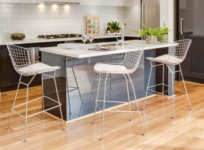 Comfy wood steel chair design for dining room (37)