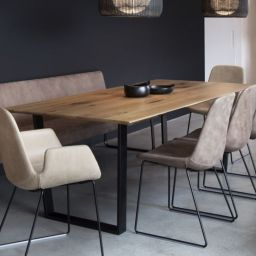 Comfy wood steel chair design for dining room (38)