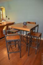 Comfy wood steel chair design for dining room (5)