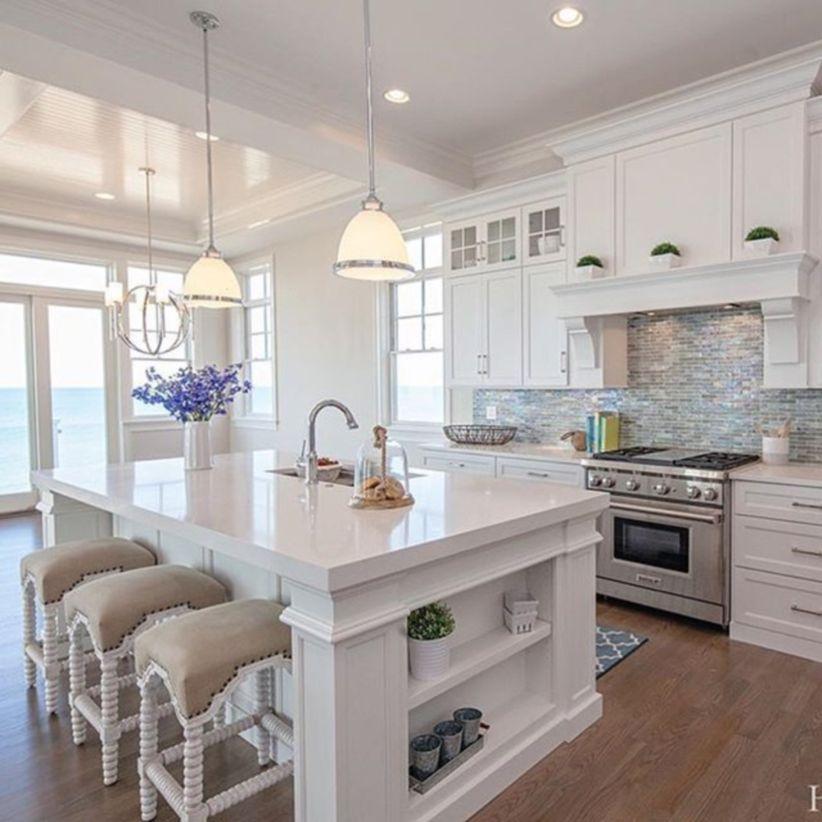 Cool Coastal Kitchen Design Ideas 26 Roundecor