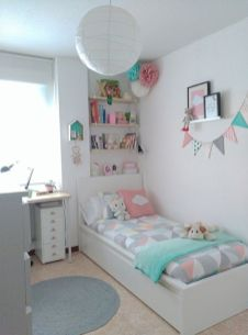 Cute pink kids bedroom designs ideas for small room (1)