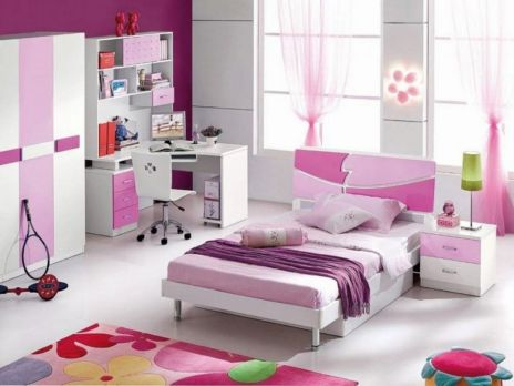 Cute pink kids bedroom designs ideas for small room (2)