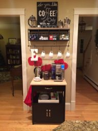 Fantastic home coffee bar design ideas you may try (13)