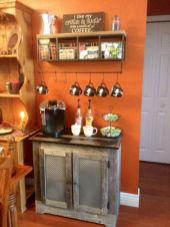 Fantastic home coffee bar design ideas you may try (26)
