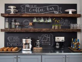 Fantastic home coffee bar design ideas you may try (32)