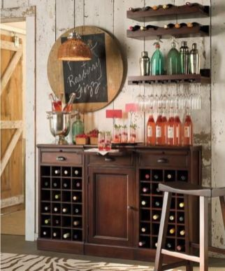 Fantastic home coffee bar design ideas you may try (48)