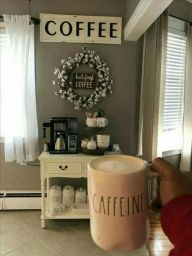 Fantastic home coffee bar design ideas you may try (5)