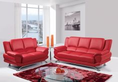 Fantastic red leather sofa designs ideas for family rooms (16)