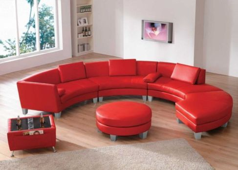 Fantastic red leather sofa designs ideas for family rooms (18)