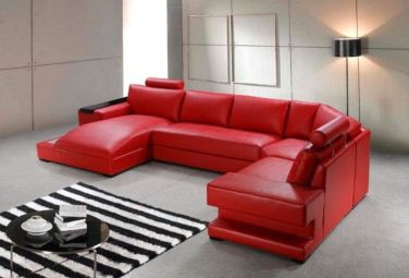 Fantastic red leather sofa designs ideas for family rooms (19)