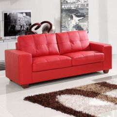 Fantastic red leather sofa designs ideas for family rooms (2)