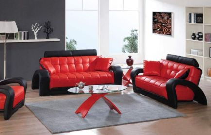 Fantastic red leather sofa designs ideas for family rooms (23)