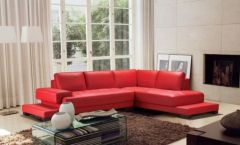 Fantastic red leather sofa designs ideas for family rooms (3)