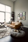 Stunning modern leather sofa design for living room (13)
