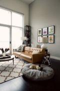 Stunning modern leather sofa design for living room (13)