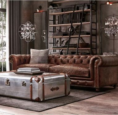 Stunning modern leather sofa design for living room (16)