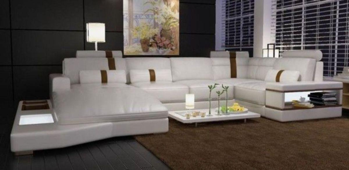 Stunning modern leather sofa design for living room (20)