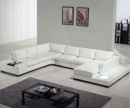 Stunning modern leather sofa design for living room (23)