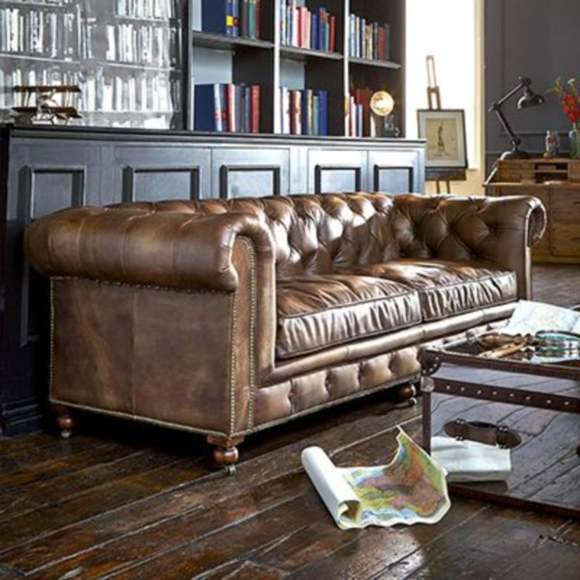 Stunning modern leather sofa design for living room (27)