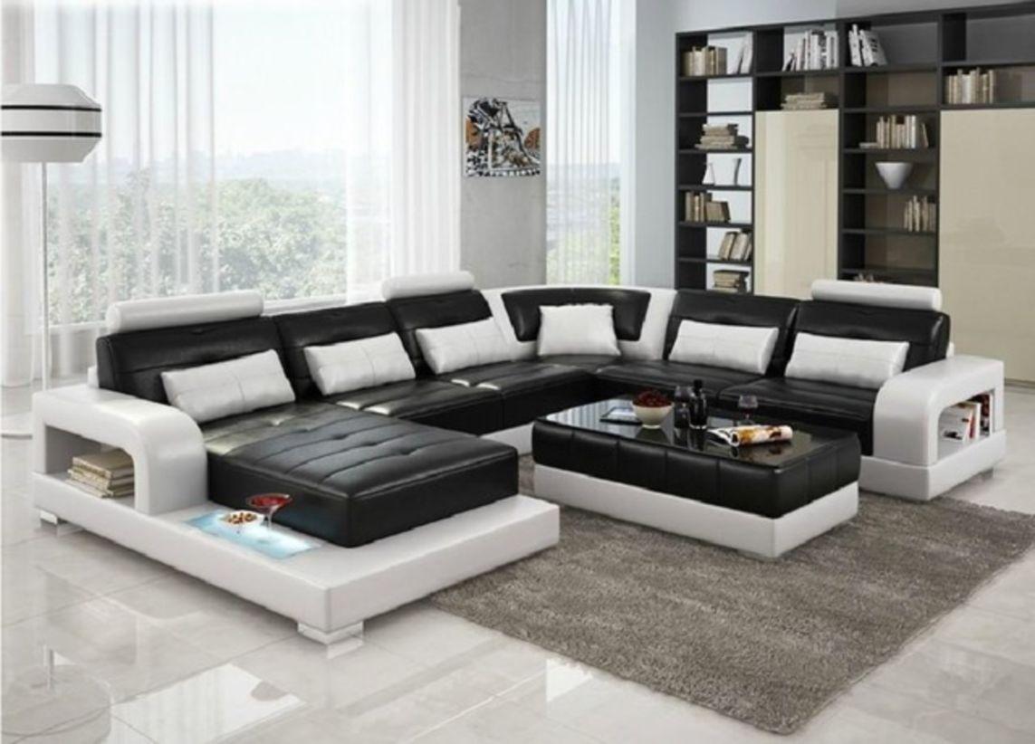 Stunning modern leather sofa design for living room (28)