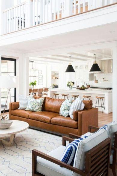 Stunning modern leather sofa design for living room (30)