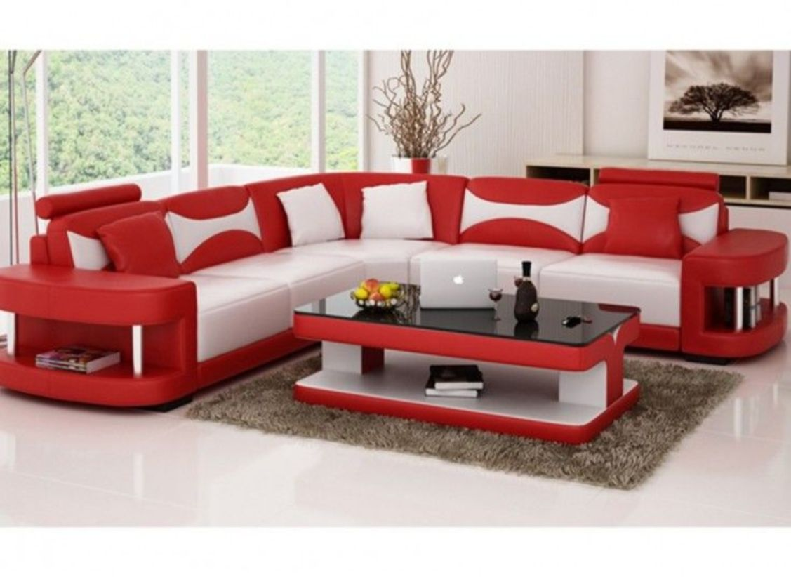 Stunning modern leather sofa design for living room (31)