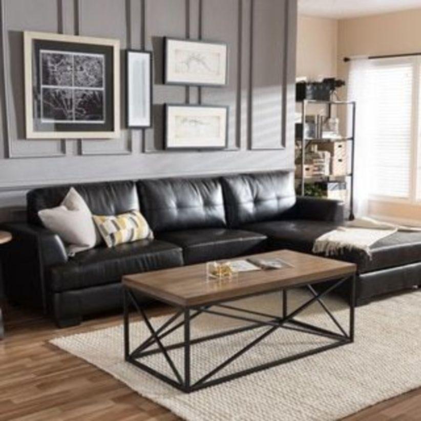 Stunning modern leather sofa design for living room (33)