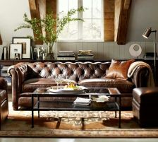 Stunning modern leather sofa design for living room (35)