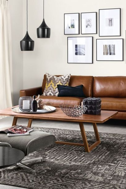 Stunning modern leather sofa design for living room (37)