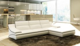 Stunning modern leather sofa design for living room (39)