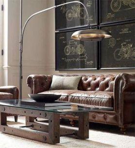 Stunning modern leather sofa design for living room (40)