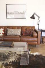 Stunning modern leather sofa design for living room (42)